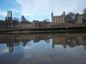 The Tower of London and arty reflection.