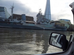 HMS Belfast, pensioned off warship and popular tourist attraction.